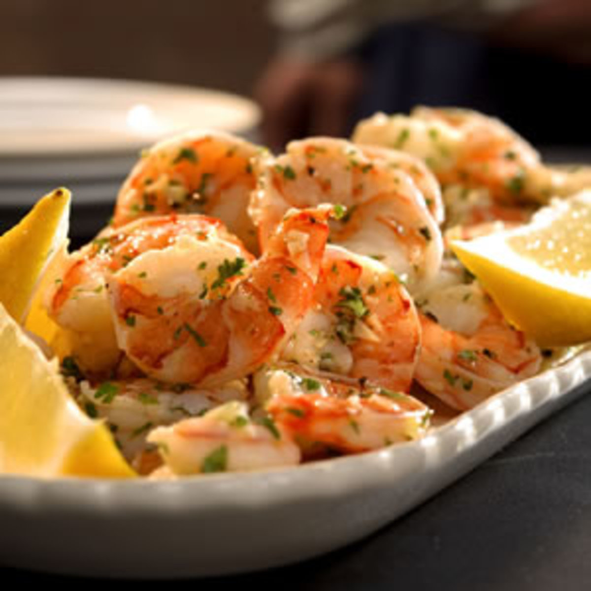 Valentine's Day Lemon Marinated Shrimp