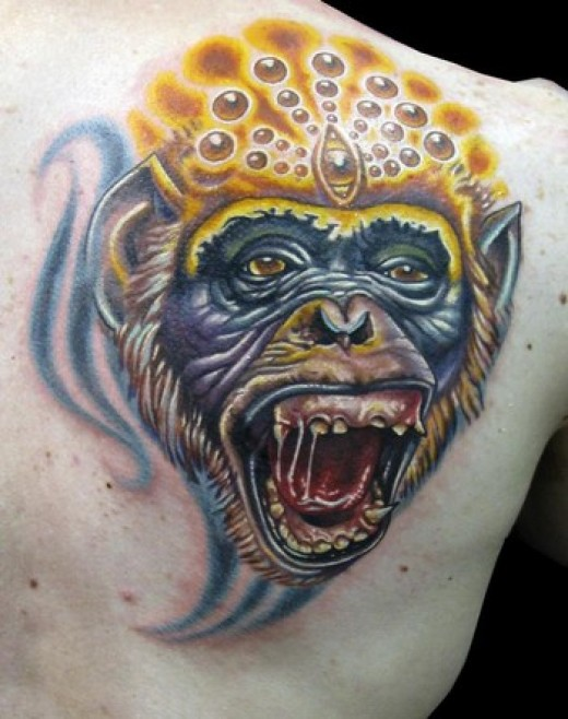 Jeeez I have heard the old sayin havin a monkey on yer back but hell this is takin that sayin a bit too far !