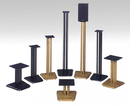 wood technology speaker stands