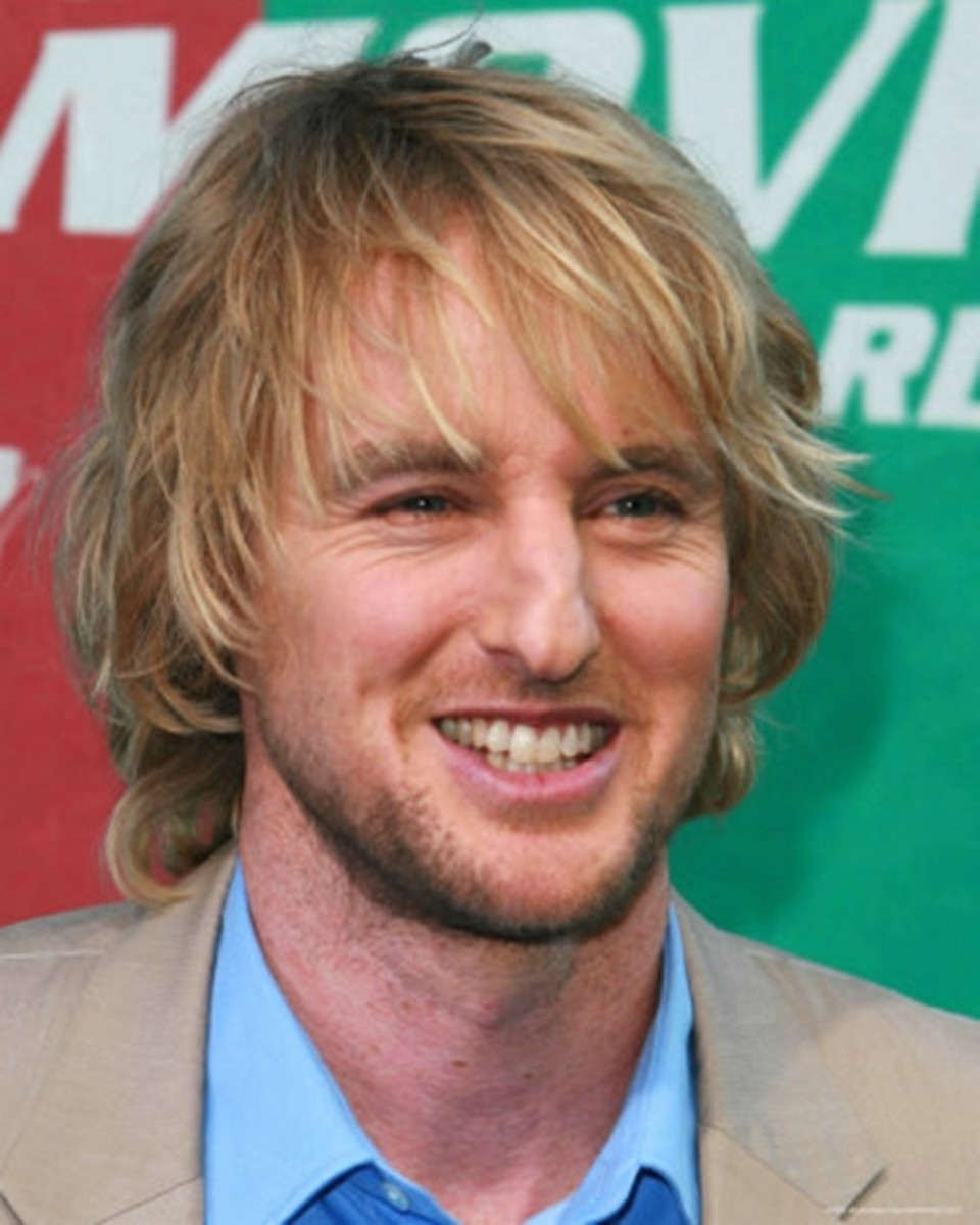 Owen Wilson 44 Wearing Layered Blonde Long Hair 2013
