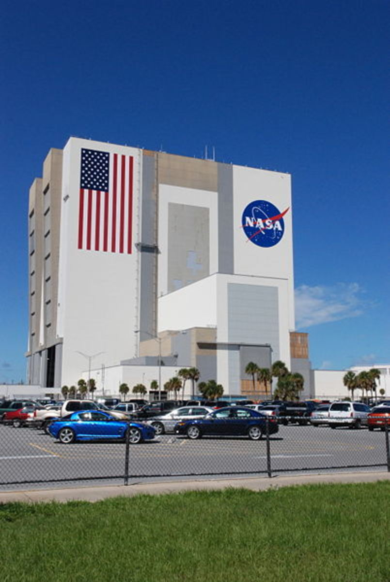 The Vehicle Assembly Building, an iconic image at the Kennedy Space Center. This is where they assemble spacecraft.
