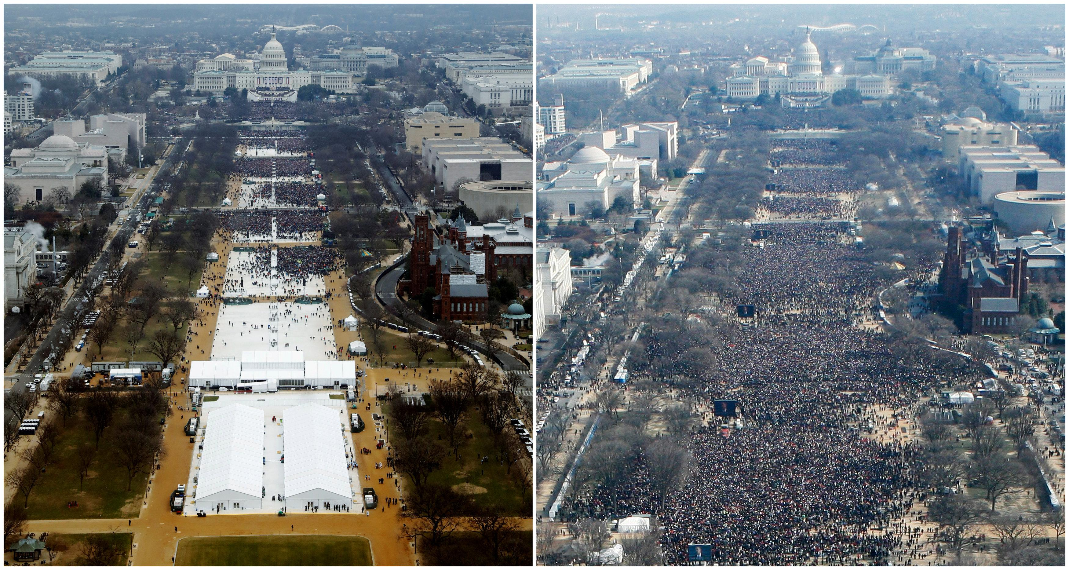 Inauguration crowd photos