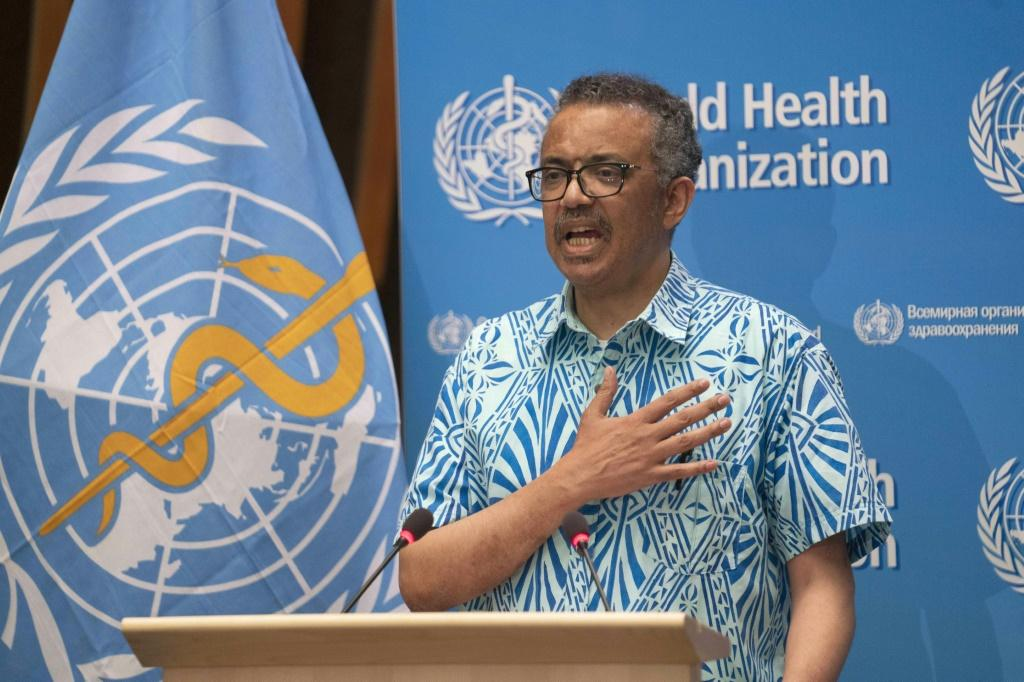 "The WHO's chief Tedros Adhanom Ghebreyesus said that on May 19, 2020 (pictured), there were ""106,000 cases reported to WHO -- the most in a single day since the outbreak began"
