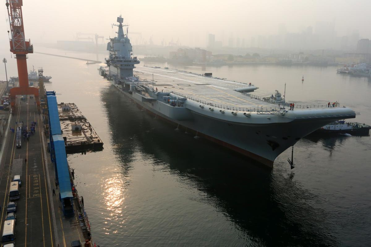 Navy aircraft carrier uss kitty hawk. China Tests First Domestic Aircraft Carrier, Launches