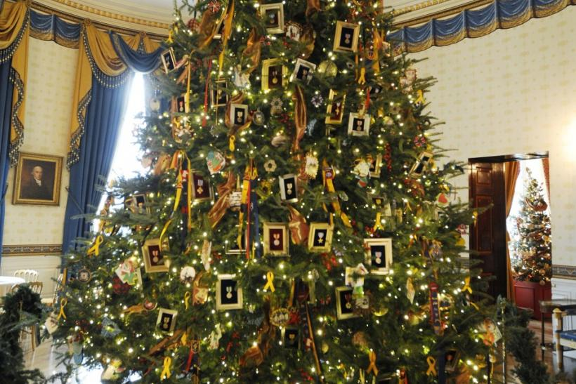 White House Christmas Tree 2011 First Family Trees Over