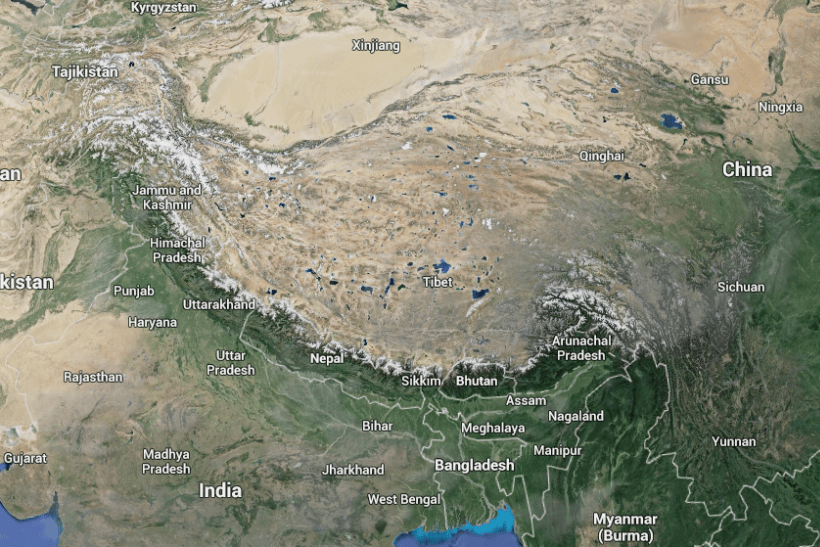 Tibetan Plateau Map: The 15,000-foot table feeds Asia's biggest rivers ...