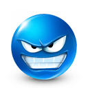 Иконка смайл, смайлик, злой, размер 128x128 | id33379 ...