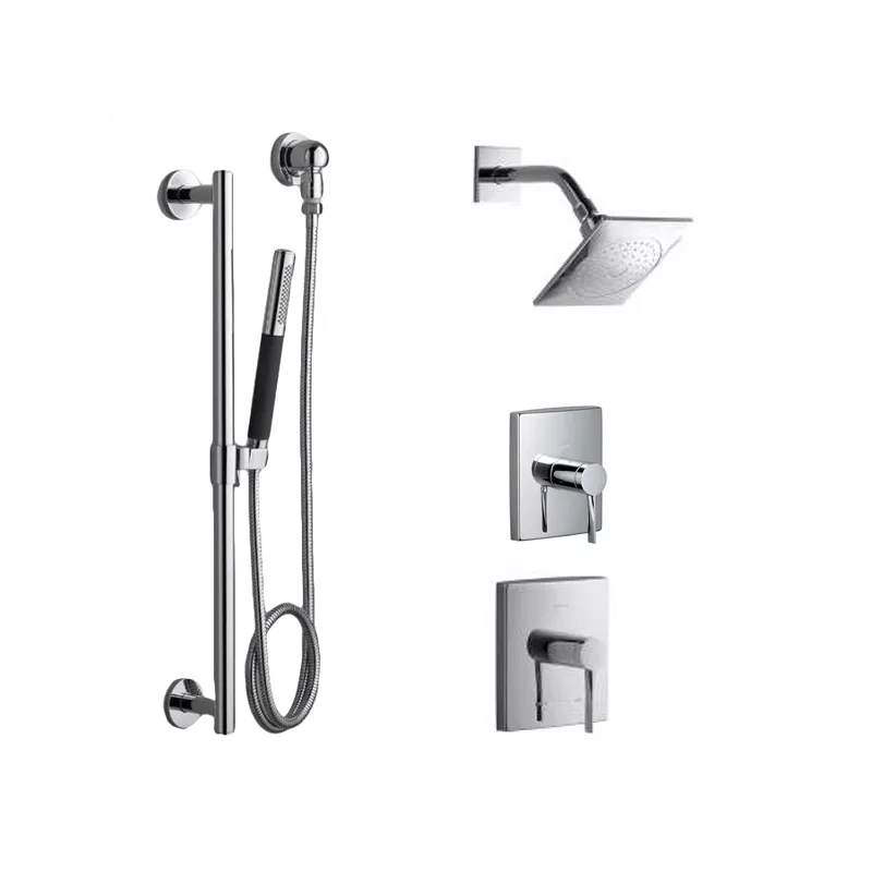 the diverter is what switches between shower head and hand shower with this twopiece option the diverter can be switched to combo mode too shower head