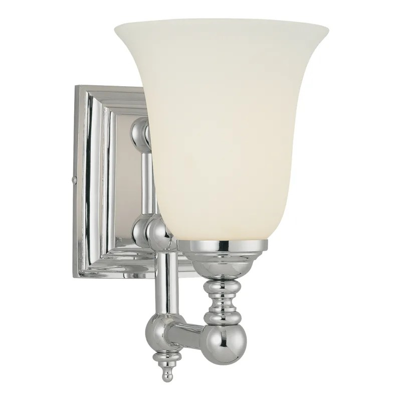 "Minka Lavery 3221-77 Chrome 1 Light 10"" Height Bathroom ... on Height Of Bathroom Sconce Lights id=27084"