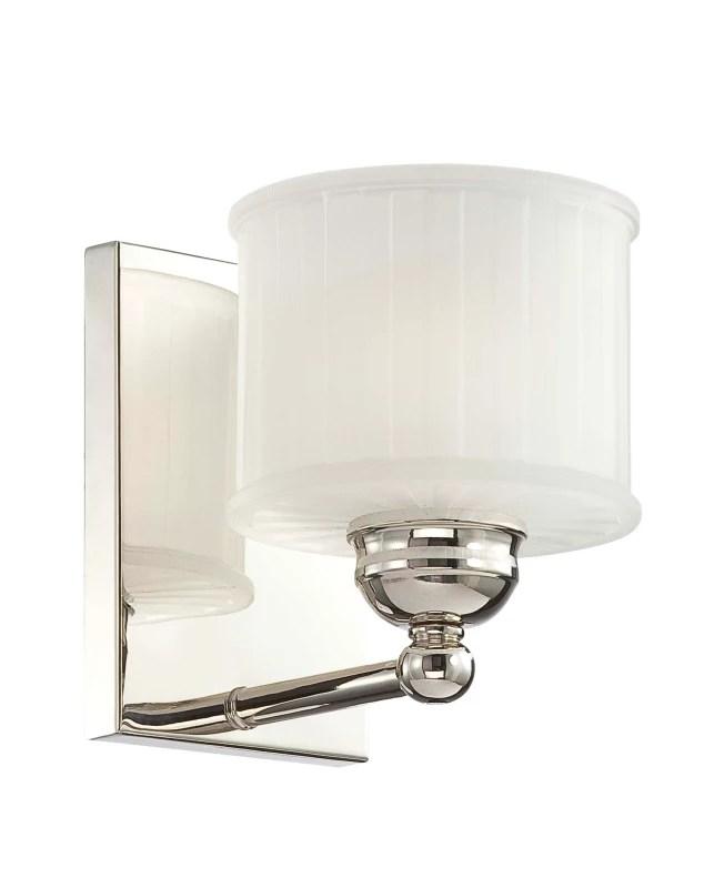 "Minka Lavery 6731-1-613 Polished Nickel 1 Light 7"" Height ... on Height Of Bathroom Sconce Lights id=12036"
