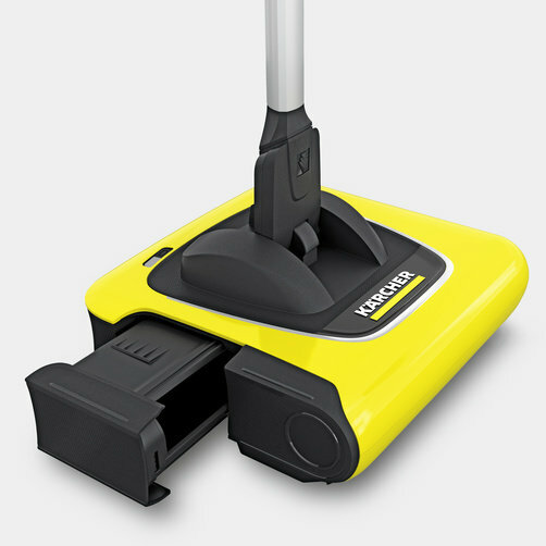 Cordless electric broom KB 5: Waste container is simple to remove and replace