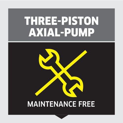 High pressure washer K 4 Basic: Three-piston axial pump