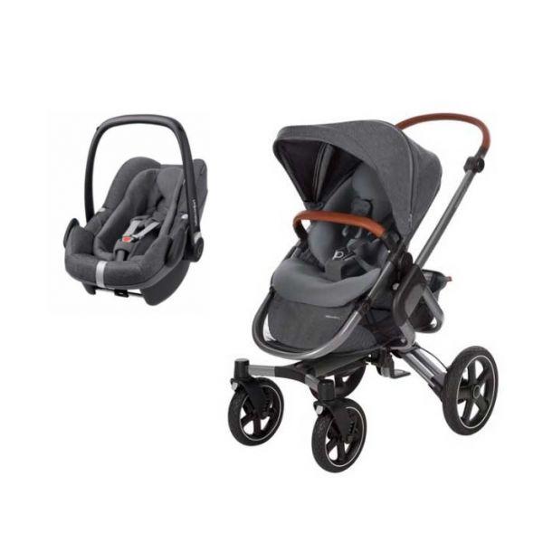 bebe confort conjunto duo nova 4 pebble plus sparkling grey