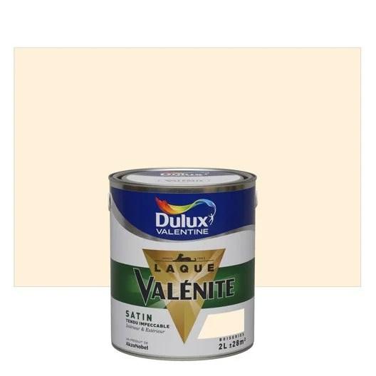 Peinture Blanc Cass DULUX VALENTINE Valnite 2 L Leroy
