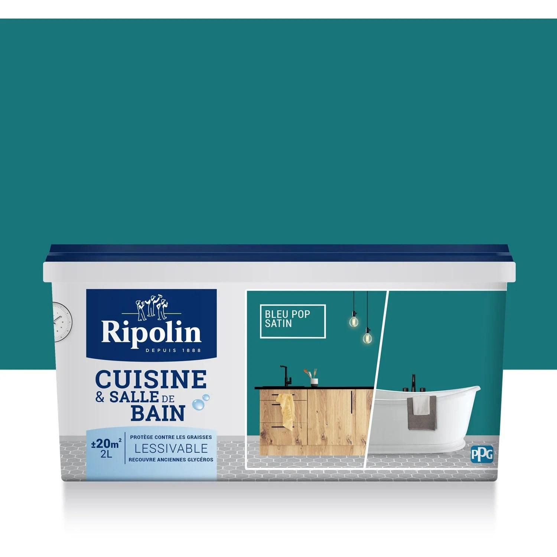 Peinture Cuisine Et Bain RIPOLIN Bleu Pop 2 L Leroy Merlin
