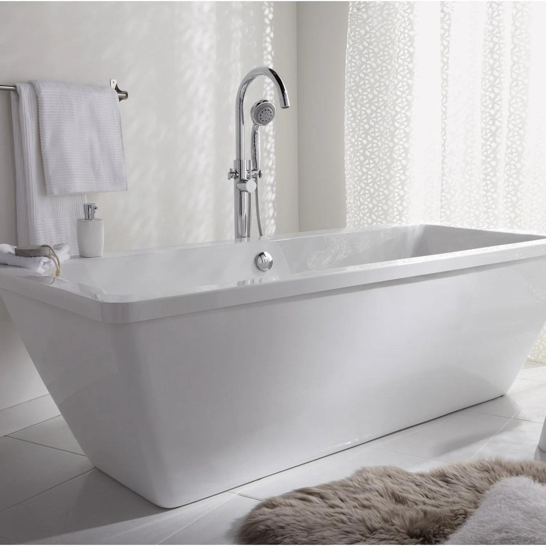 baignoire ilot rectangulaire l 180x l 80 cm blanc tokyo