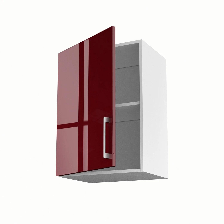 meuble de cuisine haut rouge 1 porte griotte h 70 x l 50 x p 35 cm