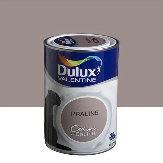 Peinture Brun Praline DULUX VALENTINE Crme De Couleur 1