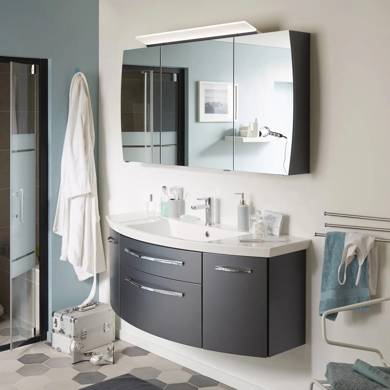 meuble de salle de bains l 129 x h 48 2 x p 48