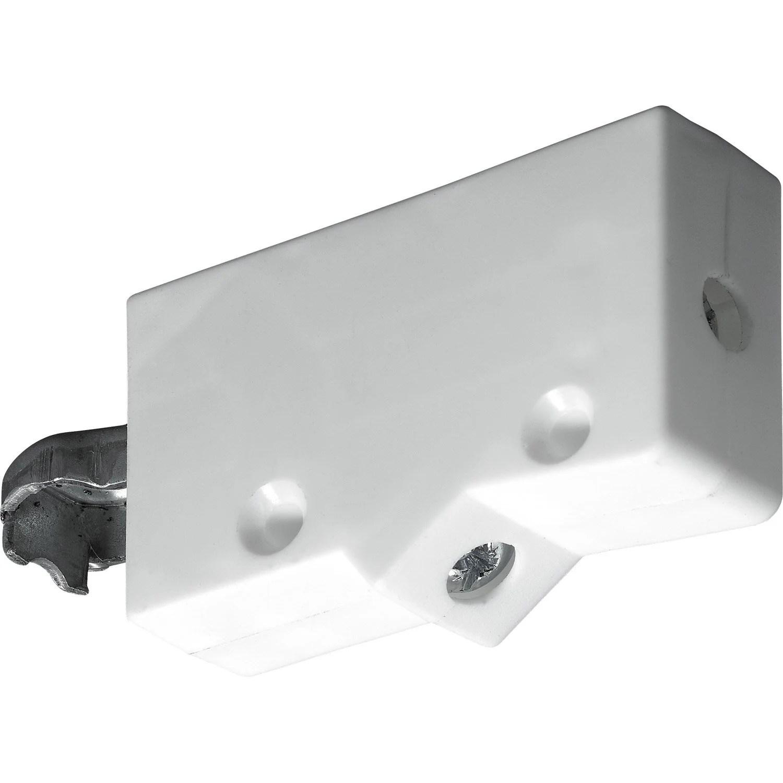 lot de 2 suspensions pour meuble haut plastique brut hettich l 62 mm