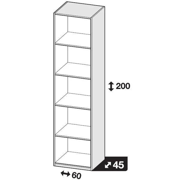 60 cm hauteur x profondeur x largeur