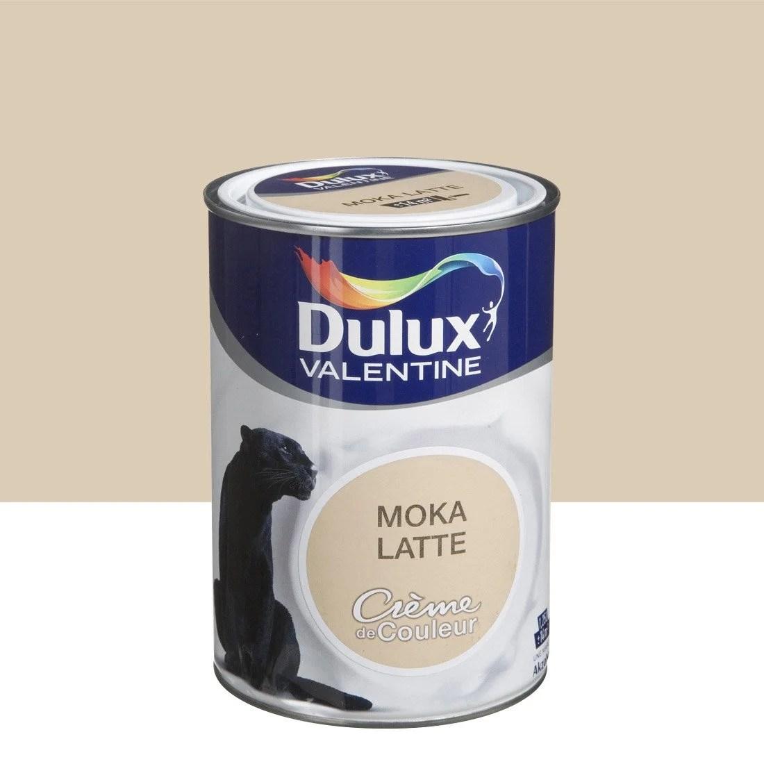 Peinture Brun Moka Latte Satin DULUX VALENTINE Crme De