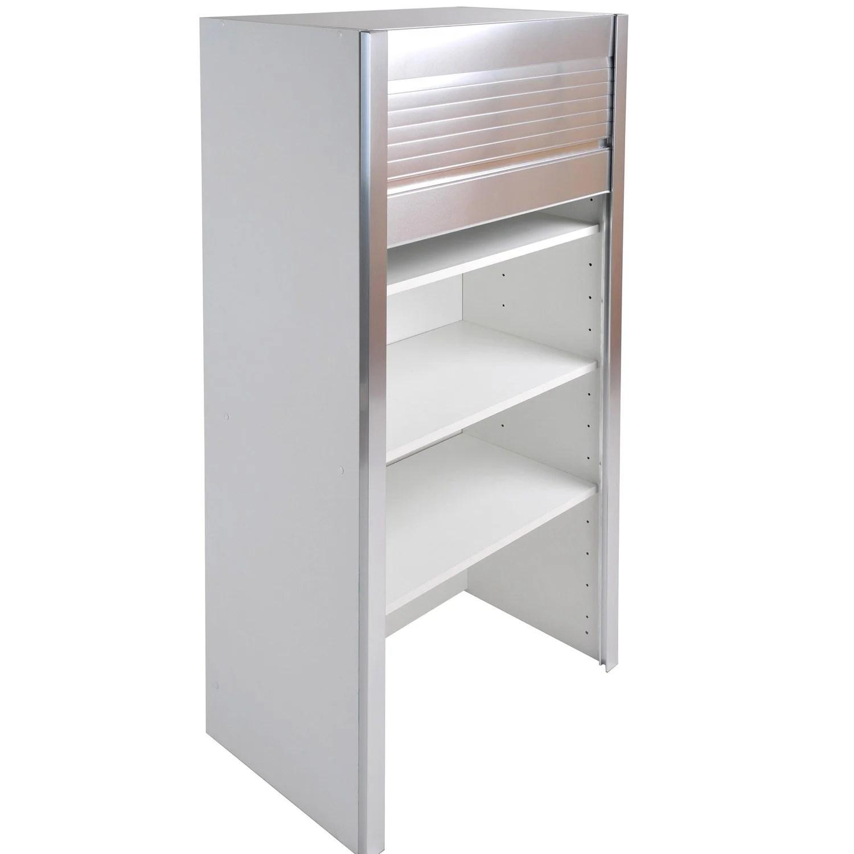 caisson de cuisine haut bf60 delinia blanc l 60 x h 126 x p 35 cm