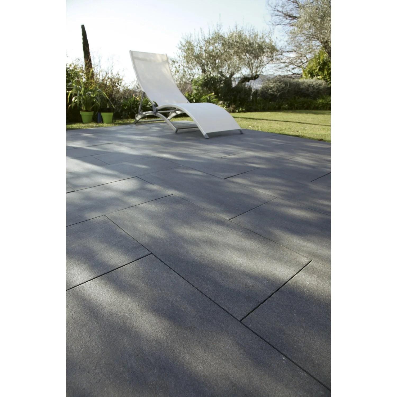 Carrelage Sol Exterieur Intenso Effet Beton Ardoise Source L 30 X L 60 Cm Leroy Merlin