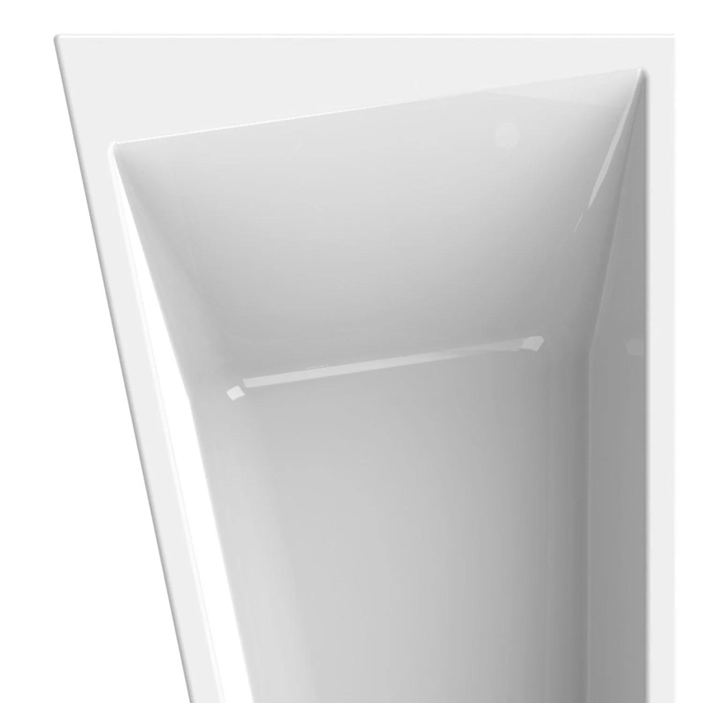 baignoire asymetrique gauche l 170x l 90 cm blanc sensea premium design