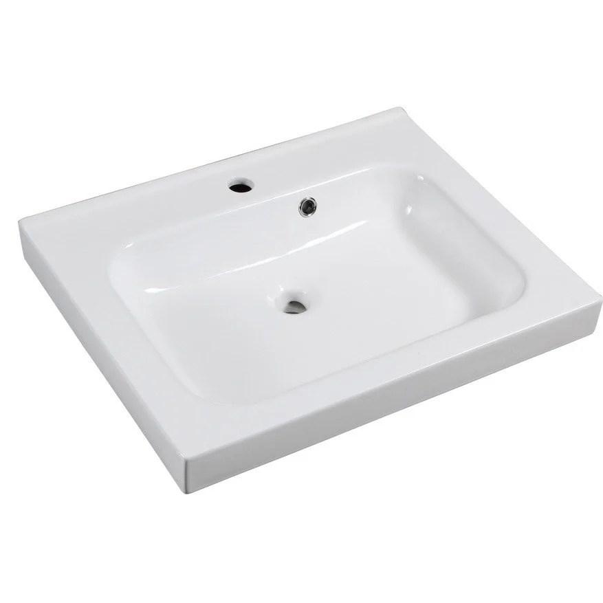 plan vasque simple remix ceramique 61 cm