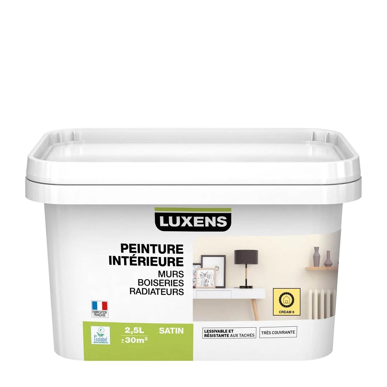 Peinture Multisupports Cream 6 Satin LUXENS 25 L Leroy