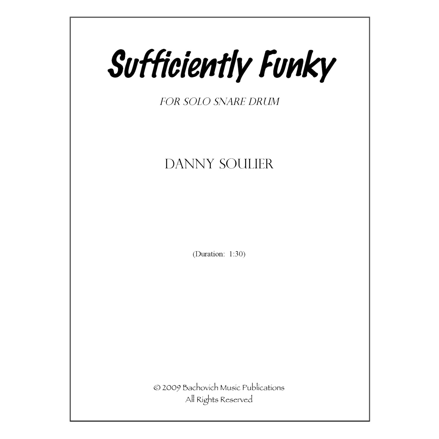 Sufficiently Funky By Danny Soulier