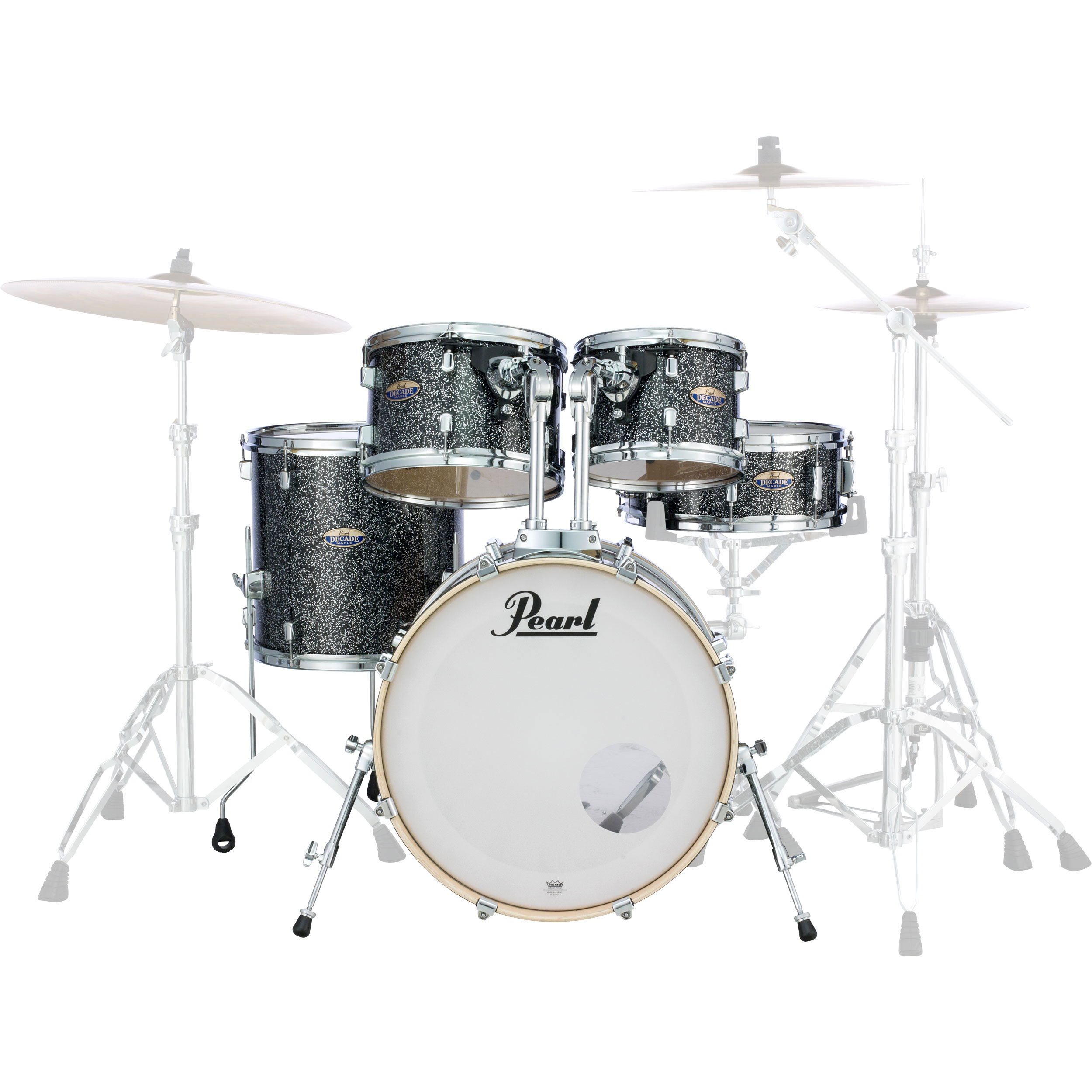 Pearl Decade Maple 5 Piece Drum Set Shell Pack 22 Bass 10 12 16 Toms 14 Snare In Wrap Finish