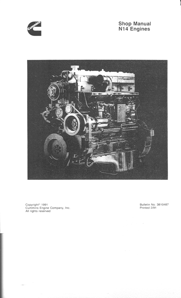 cummins n14 celect plus n14330e n14 specification  manualzz