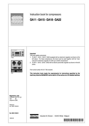 Compresor atlas copco manual