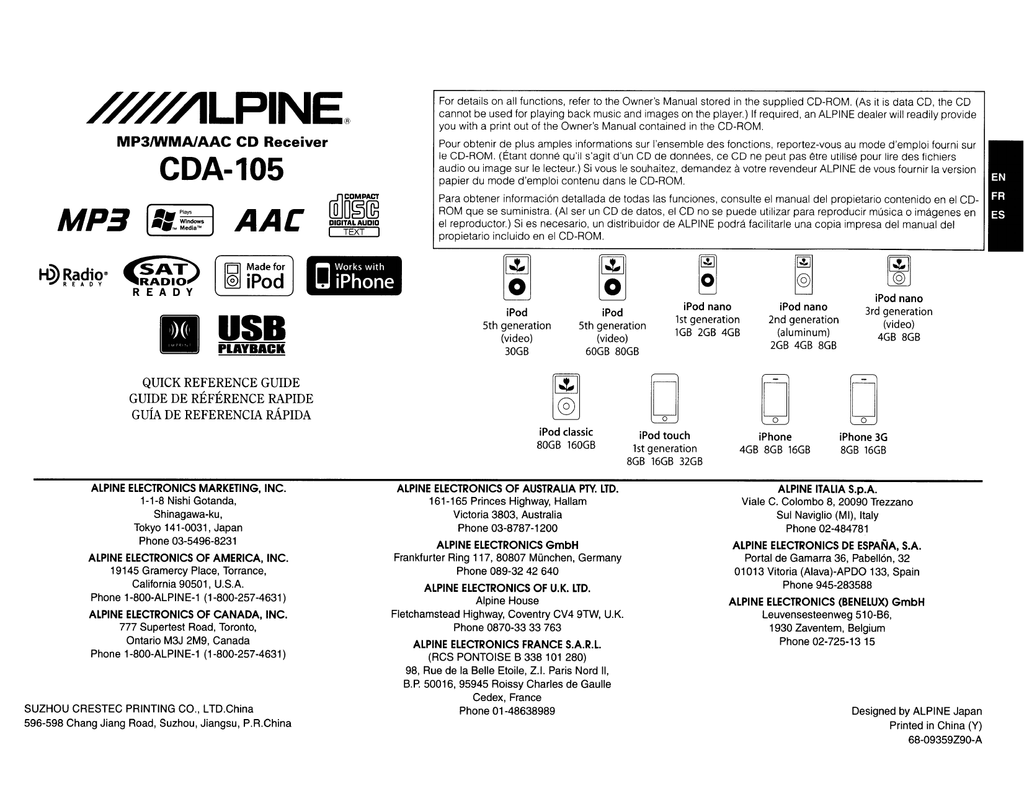 Wrg Alpine Cda 105 Wiring Diagram