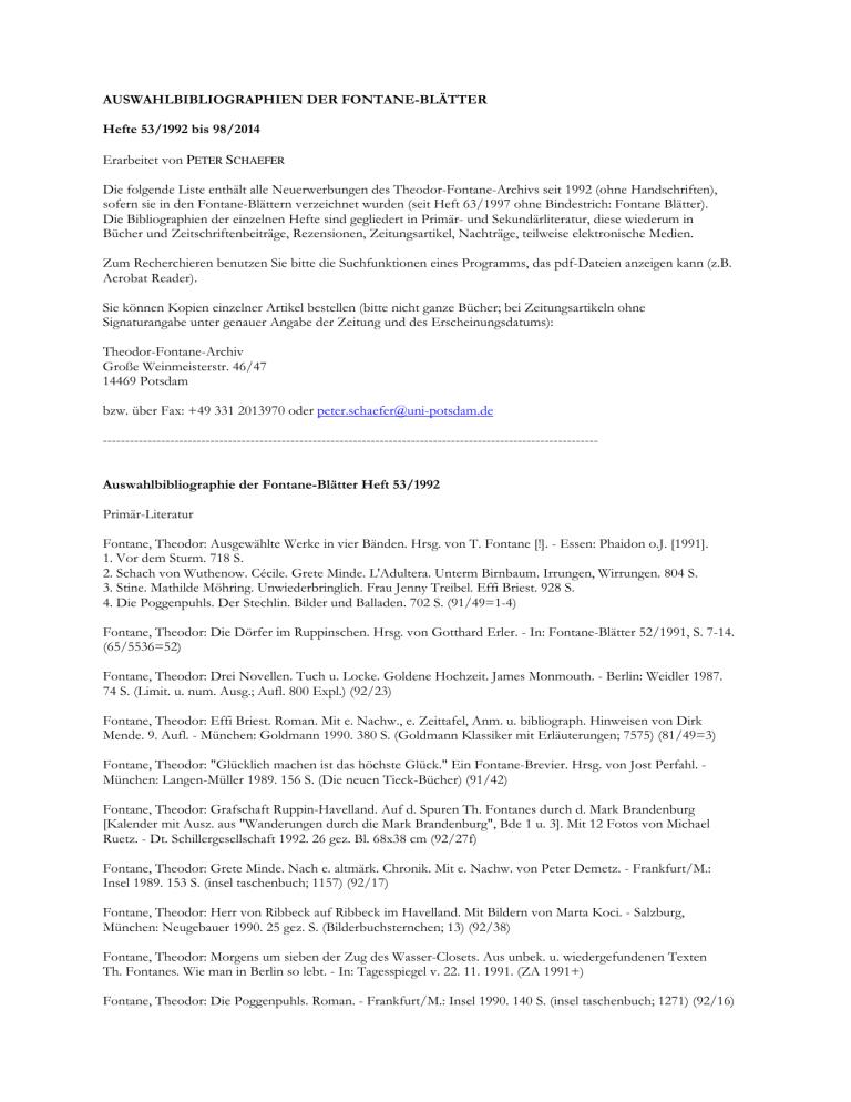 https manualzz com doc 1381436 auswahlbibliographien der fontane