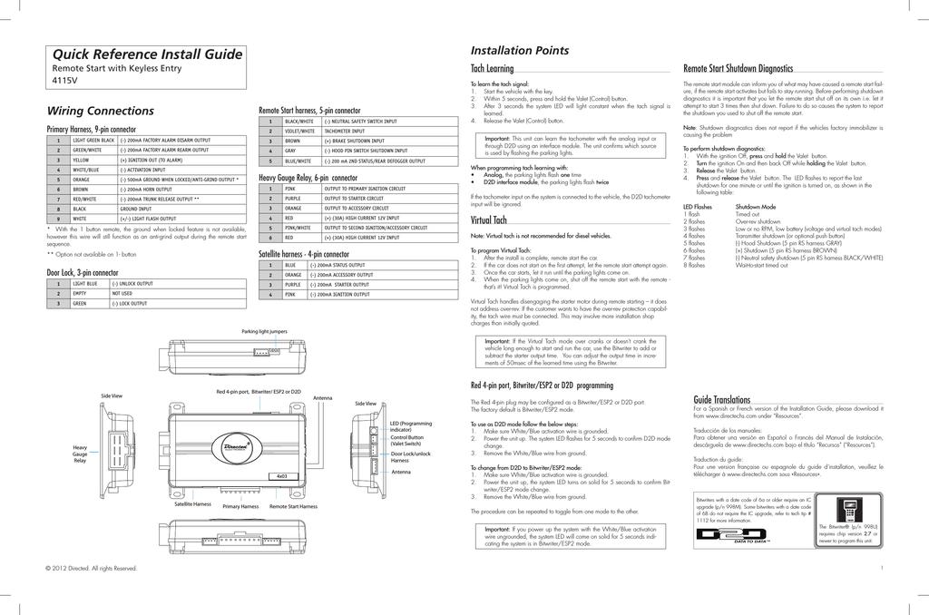 Viper Door Lock Wiring Guide | Avecdd Unix on