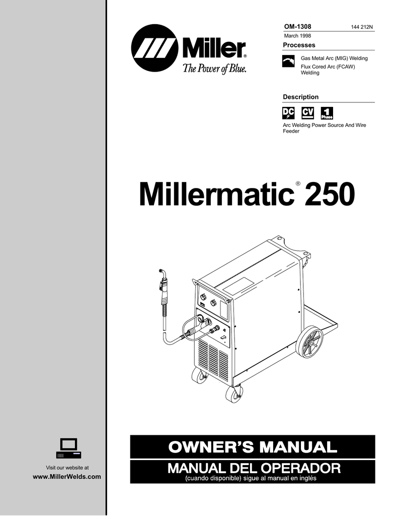 miller thunderbolt 225 welder wiring diagram millermatic Miller Bobcat 225 Parts List Miller Bobcat 225 Parts List