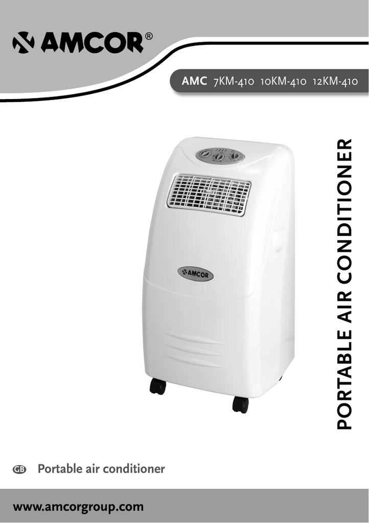 Amcor Amc 7km 410 Air Conditioner User
