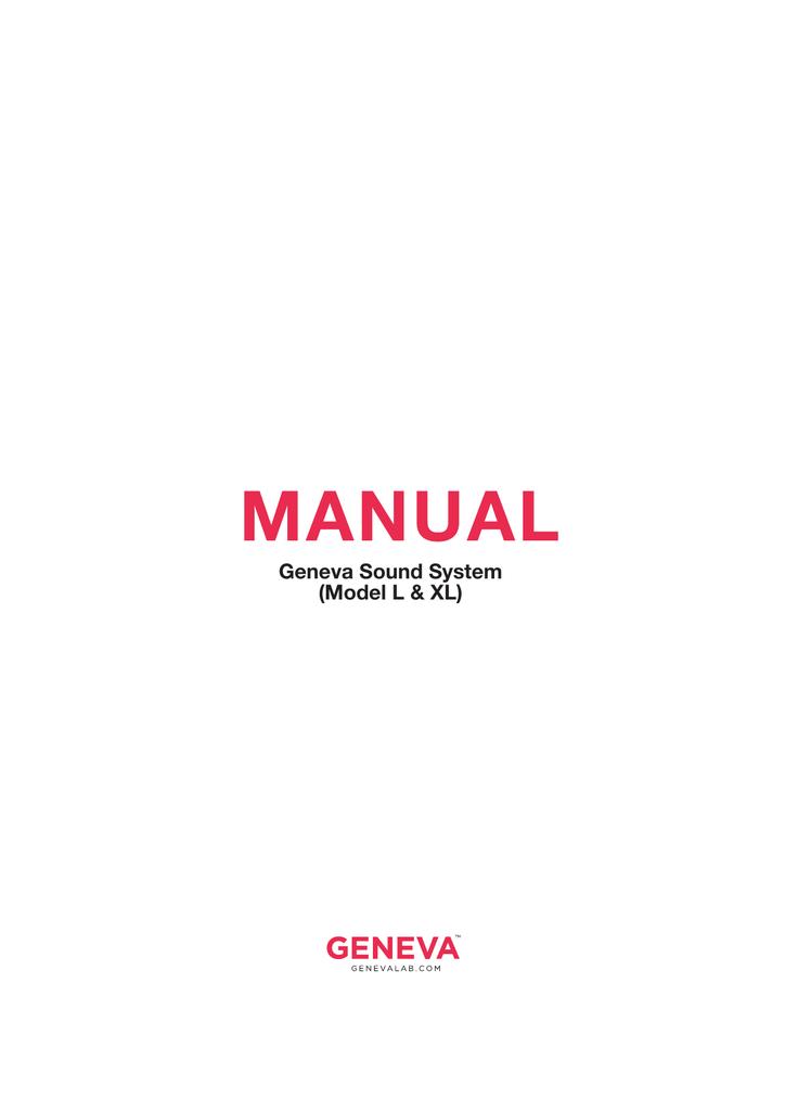 Geneva Lab Sounds System L Users Manual Manualzzcom