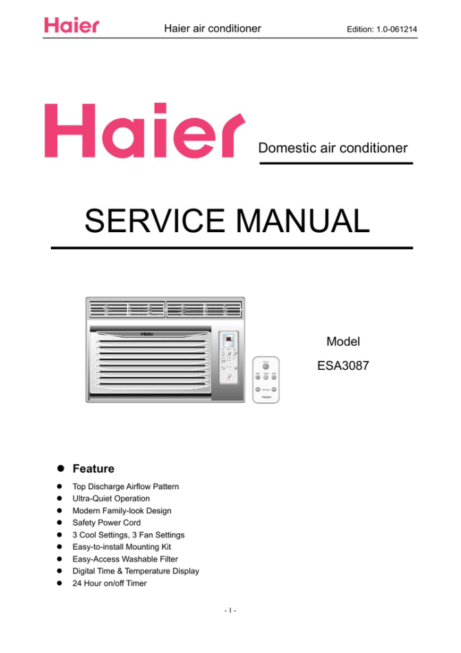 haier esa3087 owner's manual  manualzz