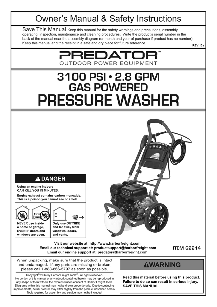 Harbor Freight Tools 212cc Product
