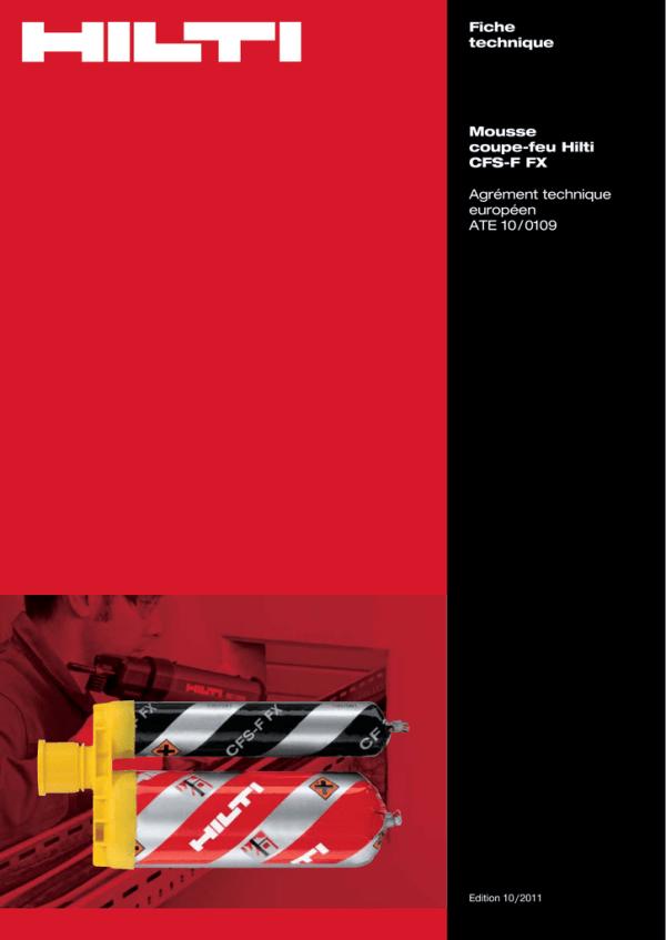 PDF Fiche technique de la mousse coupe-feu CFS-F FX | Manualzz