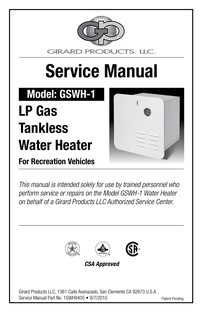 service manual  girard products llc  manualzz