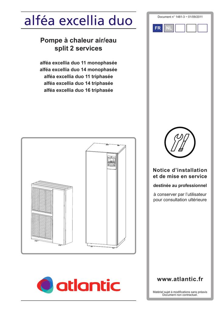 Alfea Excellia Duo Notice Installation Manualzz