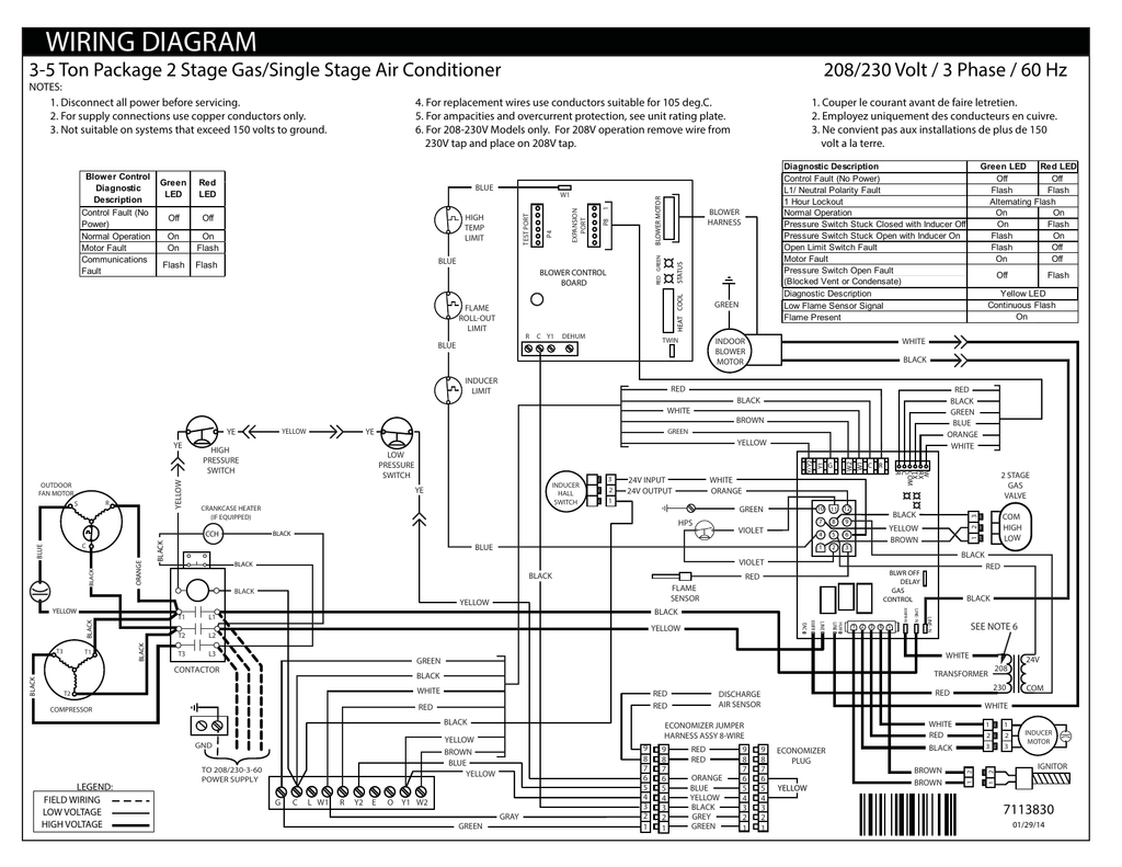Wiring Diagram 208 230 Volt 3 Phase 60 Hz