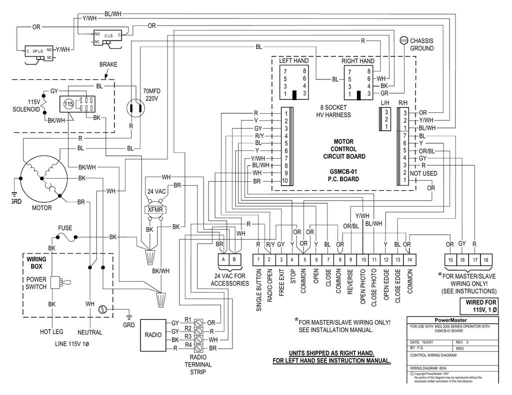 Powermaster Rsw Wiring Diagram