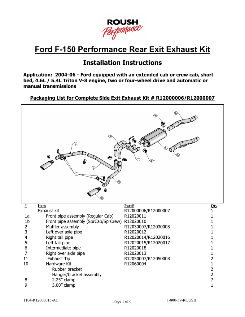 ford f 150 performance rear exit
