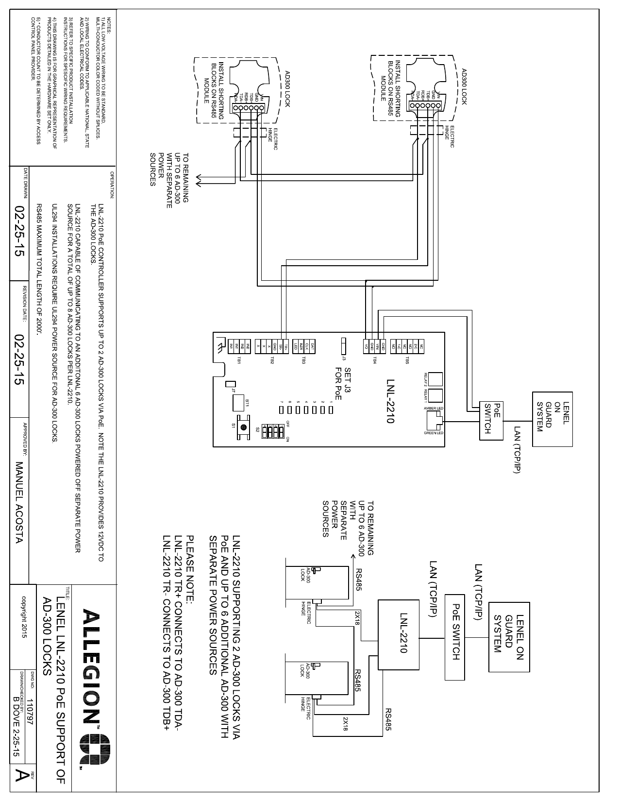 Schlage Ad 300 Lenel Lnl Rs485 Wiring Diagram